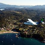 Stewart Island Flights Islander over Oban Township