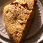 Cranberry Orange Scone...how I love you so...warm, fresh, delicate, mine.