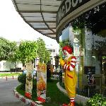 Ronald Macdonald greets visitors at the Paseo Mall near The Cottage
