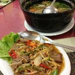 Soup Buntut and Beef Lock Lack