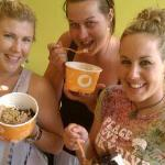 Our friends from down under enjoying their FroYo!!