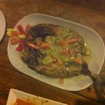 sea bass with green curry