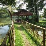 The covered Pergola by the river, where Jossy served our meals.