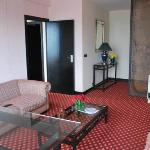 The living room area of penthouse suite at Bangui Hotel
