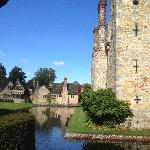 The view from Hever Castle to the Astor Wing