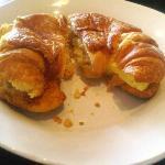 egg on croissant