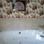 "the ""rose room"" had a jetted tub & fireplace"