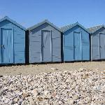 Beach huts at Charmouth