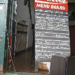Sample of the daily menu - 5,500 SL = EUR1.00