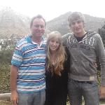 Myself, dad and brother on our balcony at The Tarragon