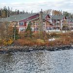View of Cove Point Lodge from the point