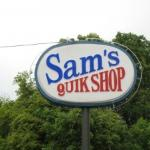 Store sign from the road