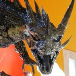 Newest exhibit!  A dragon made of car parts that weighs almost 1,000 lbs!