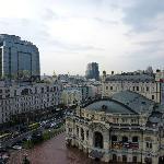 Blick aus dem Zimmer auf die Oper, Kiew