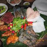 in-villa BBQ dinner, surf n turf
