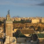 Blick von der Dachterrasse aus die Medina - Sonnenuntergang.