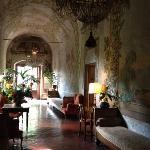 hallway and frescoes
