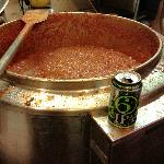 30 gallons of Cajun Red Chili!  Goes well with a West Sixth St. IPA.