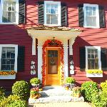 front of the adorably decorated Bed and Breakfast