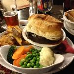 Steak and ale pie! I thought it was amazing, then I tried the roasted pork belly. The chef here
