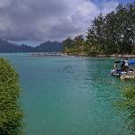 embarcadère sur l' île