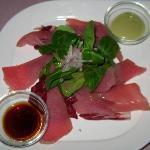 Grillstübli - Vorspeise Geräuchter Thunfisch