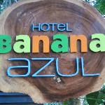 Hotel sign as colorful as the hotel