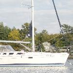 May thru october, schedule a sail on Casco Bay