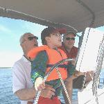 Ken with a young sailor...so special..we want you to have a memorable vacation!