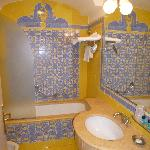 Lovely yellow marble bathroom