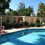 Another view of the motel rooms and the pool area