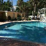 Pool area at Anna Maria Motel