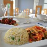 Hot & Spicy Sichuan Chicken with fried rice