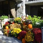 Front of Hotel with Fall decorations