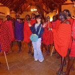 "Masai and visitors--""touristy"" but fun!!"