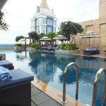 A very nice pool area.