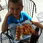 my nephew never finishes the kids meal, but loves the root beer!