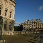 View of bldg from side of Louvre