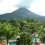 view of Arenal volcano from room
