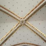 gold leafed ceiling in the main hall