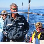 Captain Rich, Patty and Sherri in the open seas.