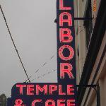 Labor Temple & Cafe Claasic Neon Sign