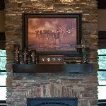 Fireplace in the Sundance Suite