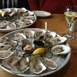 Maine Oysters and Muscadet at Robert's! Heaven!