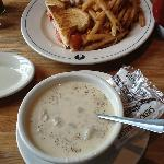 NE Clam Chowder with our Lobster BLT in Background