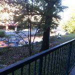 River behind the balcony