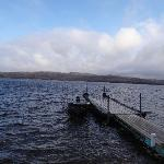 One of the docks and the beautiful Gunflint Lake