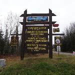 Sign on the Gunflint Trail