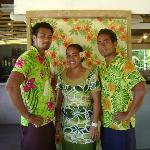 Dining room staff Amosa, Fa'alava and June