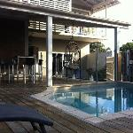 The pool at Flashpackers